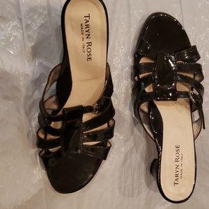Taryn Rose, 2 inch heel, open toe, black